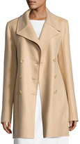 The Row Zora Double-Breasted Coat, Beige