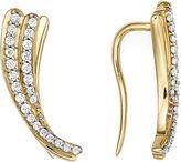 FINE JEWELRY 1/4 CT. T.W. Diamond 10K Yellow Gold Curve Earrings