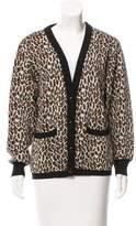 Celine Patterned Wool Cardigan