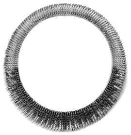David Yurman Tempo Collar Necklace with Black Spinel