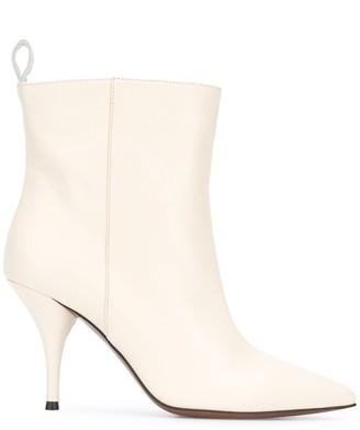 L'Autre Chose Point-Toe Stiletto Ankle Boots