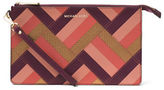 MICHAEL Michael Kors Daniela Large Marquetry Patchwork Calf Leather Wristlet