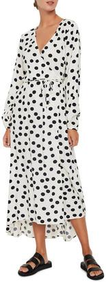 Vero Moda Kayla Long Sleeve 7/8 Wrap Dress