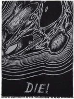 McQ Black bunny Be Here Now Scarf