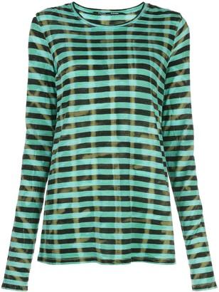 Proenza Schouler Striped Tie Dye Long Sleeve T-Shirt