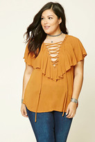 Forever 21 FOREVER 21+ Plus Size Lace-Up Top