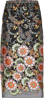 Alice + Olivia Viscose And Silk Midi Skirt