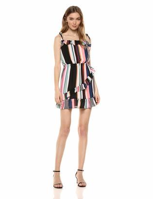 Ali & Jay Women's Bonus Points Sleeveless Blouson Ruffle Short Dress