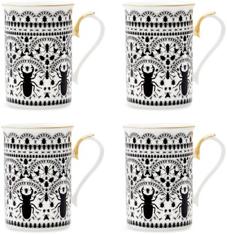 The Curious Department Insect Mandala Coffee Mug - Set Of 4