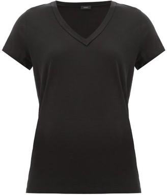 Joseph V-neck Cotton T-shirt - Womens - Black