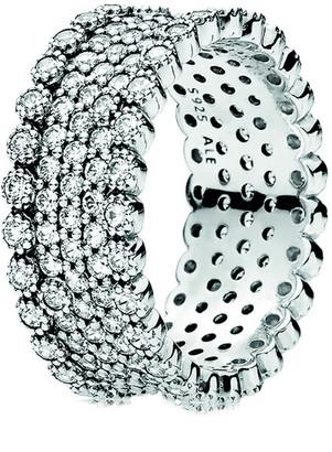 Pandora Silver Cz Sparkling Pave Band Ring