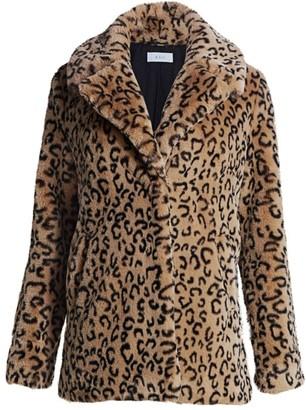 A.L.C. Faux-Fur Leopard Print Coat