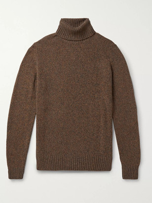 Loro Piana Melange Baby Cashmere Rollneck Sweater - Men - Brown