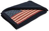 Ralph Lauren Saranac Peak Collection Parker Intarsia Flag Cotton & Wool Throw Blanket