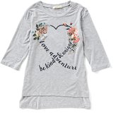 Copper Key Big Girls 7-16 Heart Floral Top
