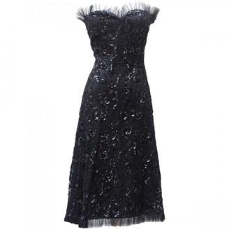 Saint Laurent Black Lace Dress for Women Vintage