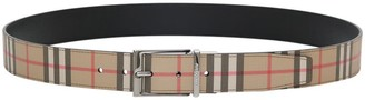 Burberry Reversible Louis Belt With Vintage Check Motif
