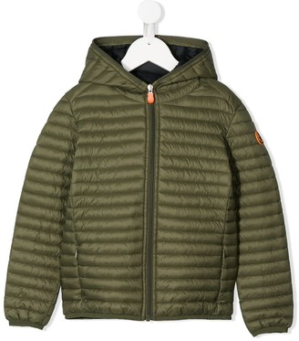 Save The Duck Kids Logo Patch Padded Jacket