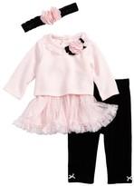 Little Me Infant Girl's Sweet Dress, Leggings & Headband Set