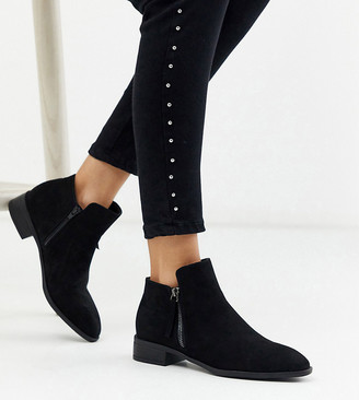 Simply Be extra wide fit ankle boot in black