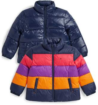 Tommy Hilfiger Colour-Block Puffer Jacket