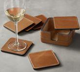 Pottery Barn Beckett Leather Coasters