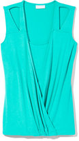 Outlet Exclusive - Faux-Wrap Sleeveless Top