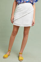 The Jetset Diaries Fringed Linen Mini Skirt