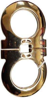 Salvatore Ferragamo Gold Metal Belts