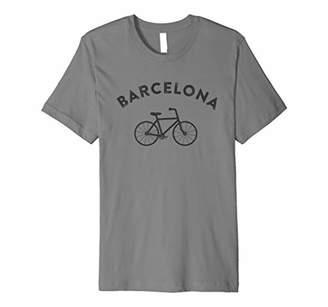 Barcelona T-Shirt City Bike Retro Style Cycling Spain Tee