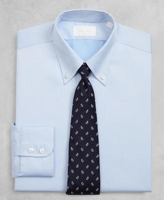 Brooks Brothers Golden Fleece Regent Fitted Dress Shirt, Button-Down Collar Blue Dobby