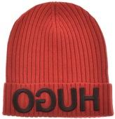 HUGO Men X Beanie Hat Red