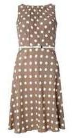 Dorothy Perkins Womens **Billie & blossom Taupe Spotted Dress- Taupe