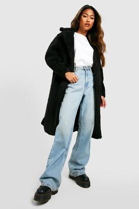 boohoo Oversized Teddy Faux Fur Coat