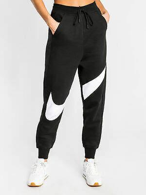 Nike New Nsw Swoosh Fleece Track Pants In Black Womens Pants & Leggings