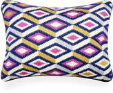 Jonathan Adler Lavender Bargello Diamonds Throw Pillow