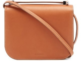 Jil Sander Logo-debossed Small Smooth-leather Shoulder Bag - Tan