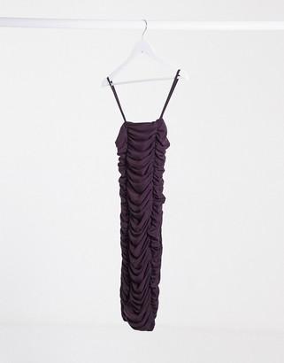 Club L London Club L ruched mini cami dress in deep purple