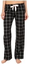 PJ Salvage Black N Blush Plaid Pajama Pants
