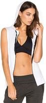 Beyond Yoga Vest Behavior Hoodie in White. - size M (also in S)