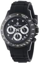 Burgmeister Florida Women's Quartz Watch with Black Dial Chronograph Display and Black Silicone Strap BM514-622A