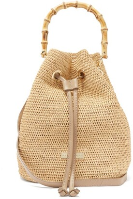 Heidi Klein Savannah Bay Raffia Bucket Bag - Beige