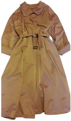 Emporio Armani Camel Cotton Coat for Women Vintage