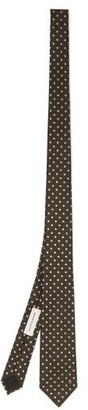 Alexander McQueen Polka-dot Silk Tie - Black White