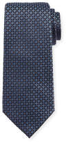 Giorgio Armani Mini-Cross Medallion Silk Tie, Blue