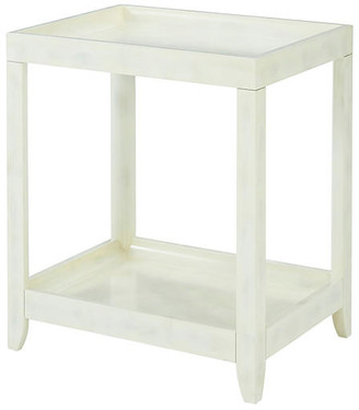 Theodore Alexander Brentwood Side Table - Eggshell White