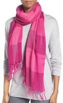 Eileen Fisher Women's Linen & Organic Cotton Check Scarf