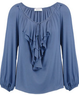 Bailey 44 Ruffle-Trimmed Stretch-Jersey Top