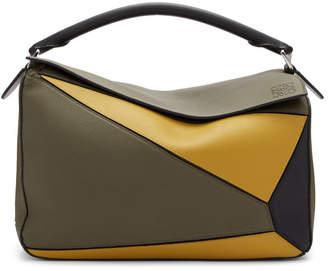 Loewe Khaki Large Puzzle Bag