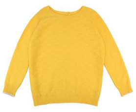 Lowie Yellow Cashmere Button Back Jumper - S - Yellow